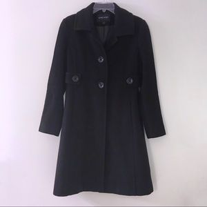 Nine West Thigh Length Peacoat with Partial Belt